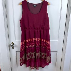 Mossimo Maroon Summer Dress Size XXL